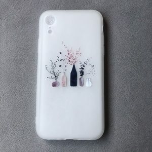 iPhone XR Frosted Silicone Floral Phone Case